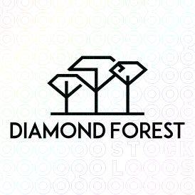 Exclusive Customizable Logo For Sale: Diamond Forest | StockLogos.com https://stocklogos.com/logo/diamond-forest-0