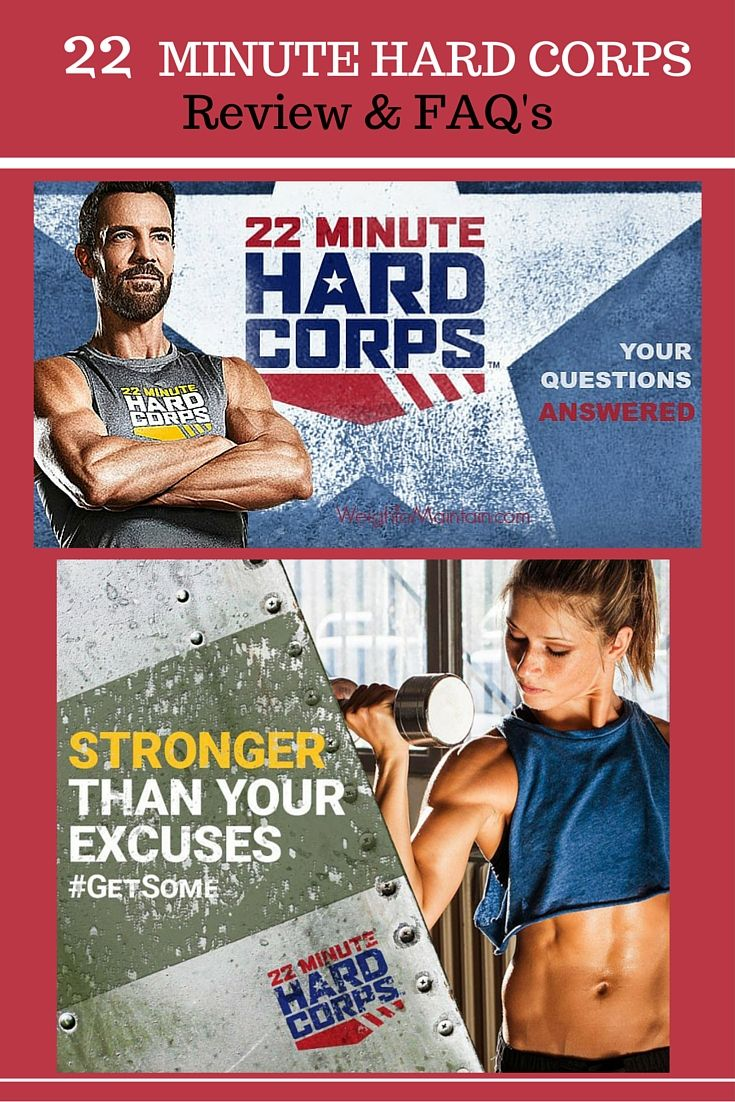 What is 22 Minute Hard Corps? Check out this review and FAQ about Beachbody's newest program.    22 Minute Hard Corps is a no-nonsense, 8-week boot camp style workout program. It was created celebrity trainer Tony Horton, and has 8 total-body cardio, resistance, and core routines.  This 22 minute sweat-fest is designed to you in shape fast.