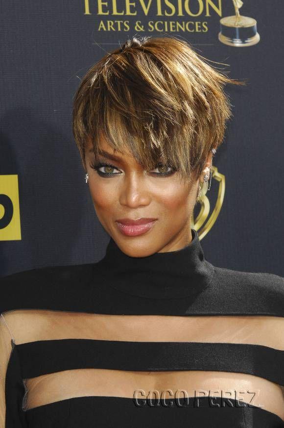 Tyra Banks Rocks Fierce Short Haircut At Daytime Emmy Awards! | CocoPerez.com