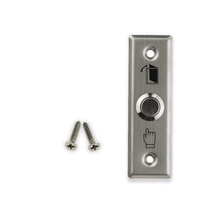 Doprava zadarmo nerezovej ocele dverný spínač Exit Button núdzové tlačidlo elektrického zámku Access Control Hlavný bezpečnostný alarm