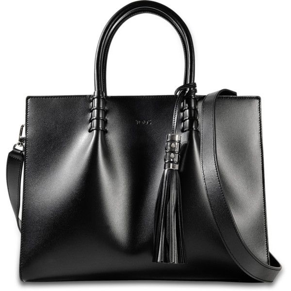 Tod's Lady Mock Bag (32.883.005 IDR) ❤ liked on Polyvore featuring bags, handbags, black, tods purses, tods bags and tods handbags