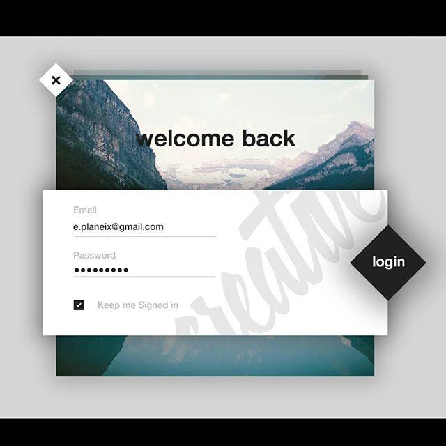 Login UI #ui #ux #design #instagram #webdesign #photoshop #photo #illustrator #logo #grey #black #white #typography #type #lettering #adobe #creative #login #materialdesign #dribbble #dribbbleinvite #website #web #webstagram #graphicdesign