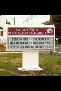 A church against gay bashing
