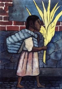 Girl with Palm - Diego Rivera - The Athenaeum