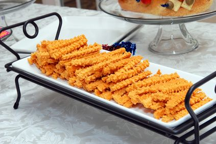 Cheese Straws With Cookie Press