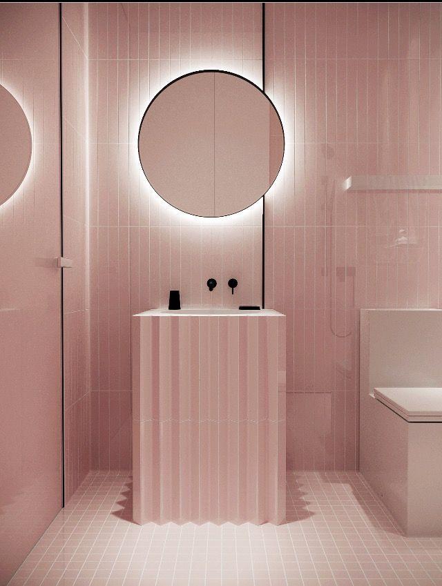 Glossier Vibes Badezimmer Innenausstattung Bad Inspiration