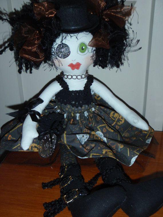 ePattern  Victoria  Steampunk   a rag doll by redhendesignsnz