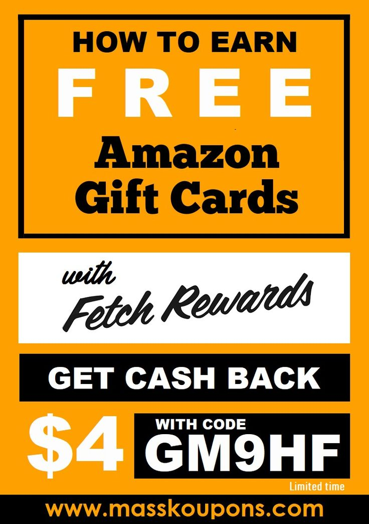 Download Fetch Rewards and enter code GM9HF before you