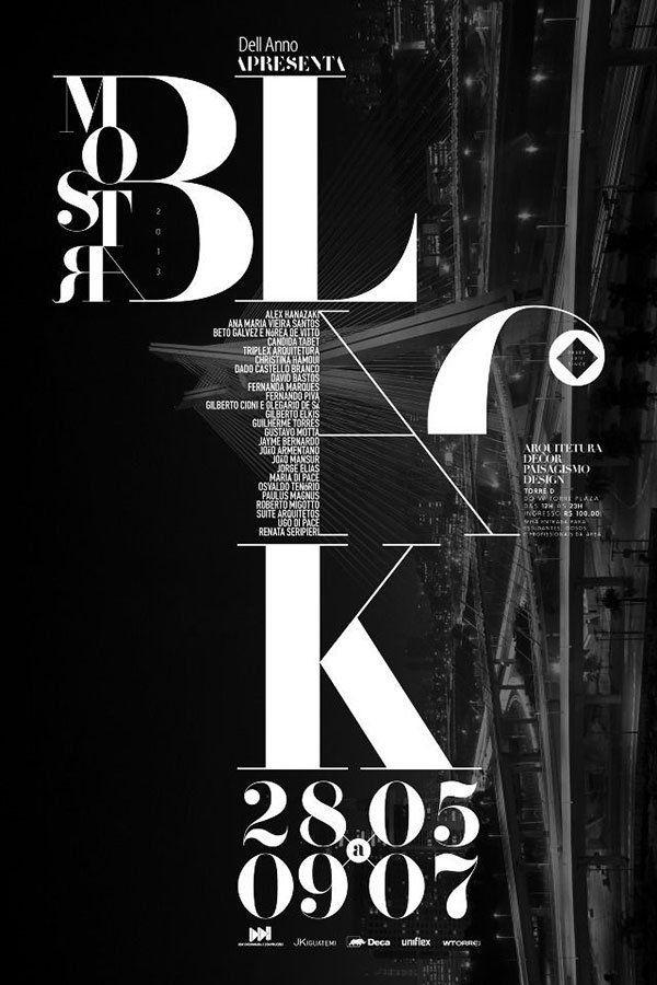 typographic poster bshk 2014 24 30 Stunning Typographic Posters