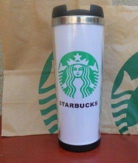 Pares de la taza de acero inoxidable Starbucks dobles Tazas De Viaje a prueba de Fugas