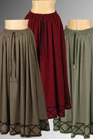 Peasant Maiden Skirt No. 3 - 65.00USD - Medieval and Renaissance Clothing, Handmade by Your Dressmaker