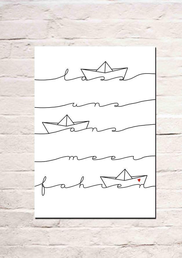 Digitaldruck – Lass uns ans Meer fahren – ein Designerstück von Haus-nr-26 bei … – café campfire
