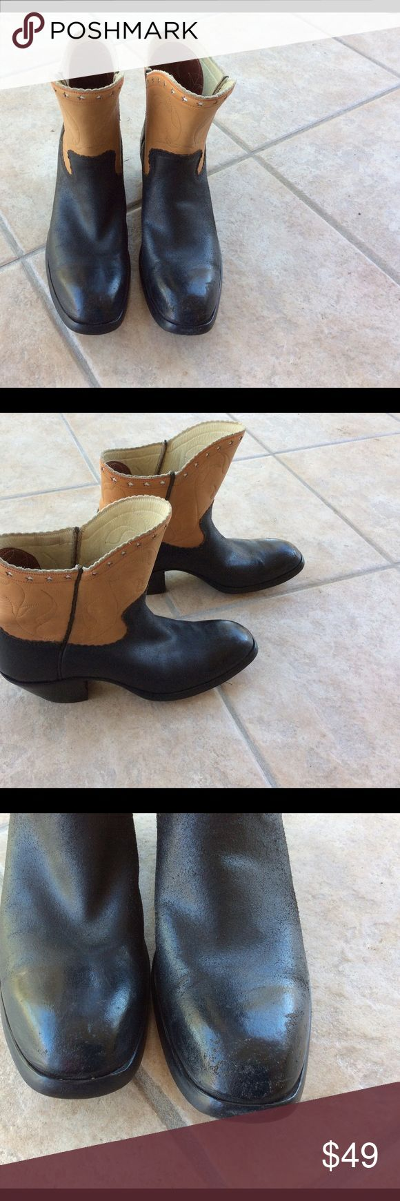 Colour magic car polish black - Builtrite Cowboy Boots These Are An Adorable Two Tone All Leather Short Cowboy Bootie