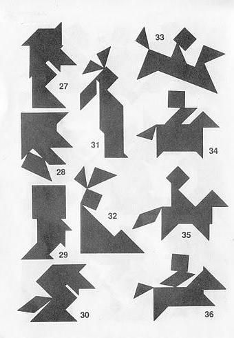 Figuras Tangram con soluciones 3a
