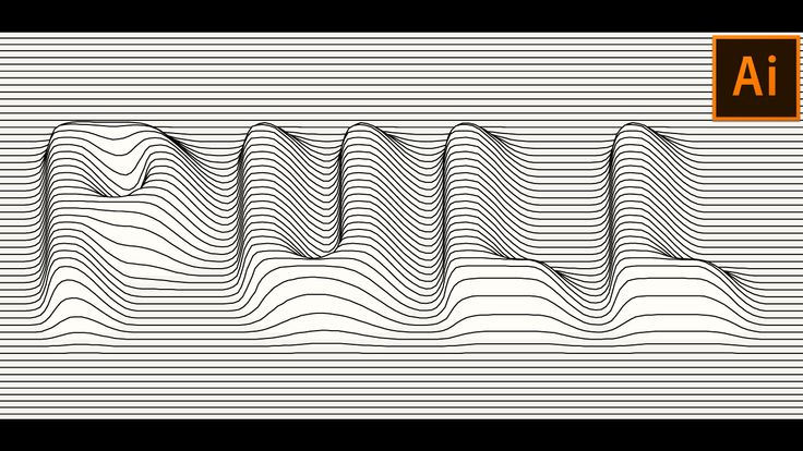 Vector Lines Distortion Effect in Adobe Illustrator (With