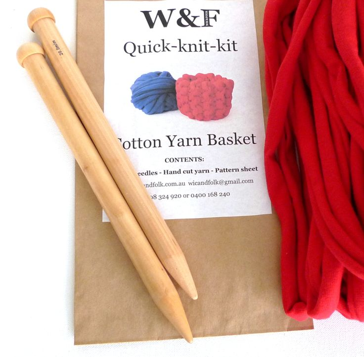 Quick Knit basket kits with cotton yarn