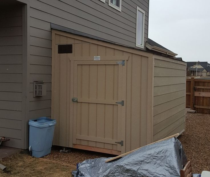 Our Lean To sheds are very versatile and can be built as a standalone storage shed, or a four sided building against an existing house or garage wall.  Often, this 3:12 roof pitch shed requires matching siding to the home, which can easily be done from our Additional Items pricing page.