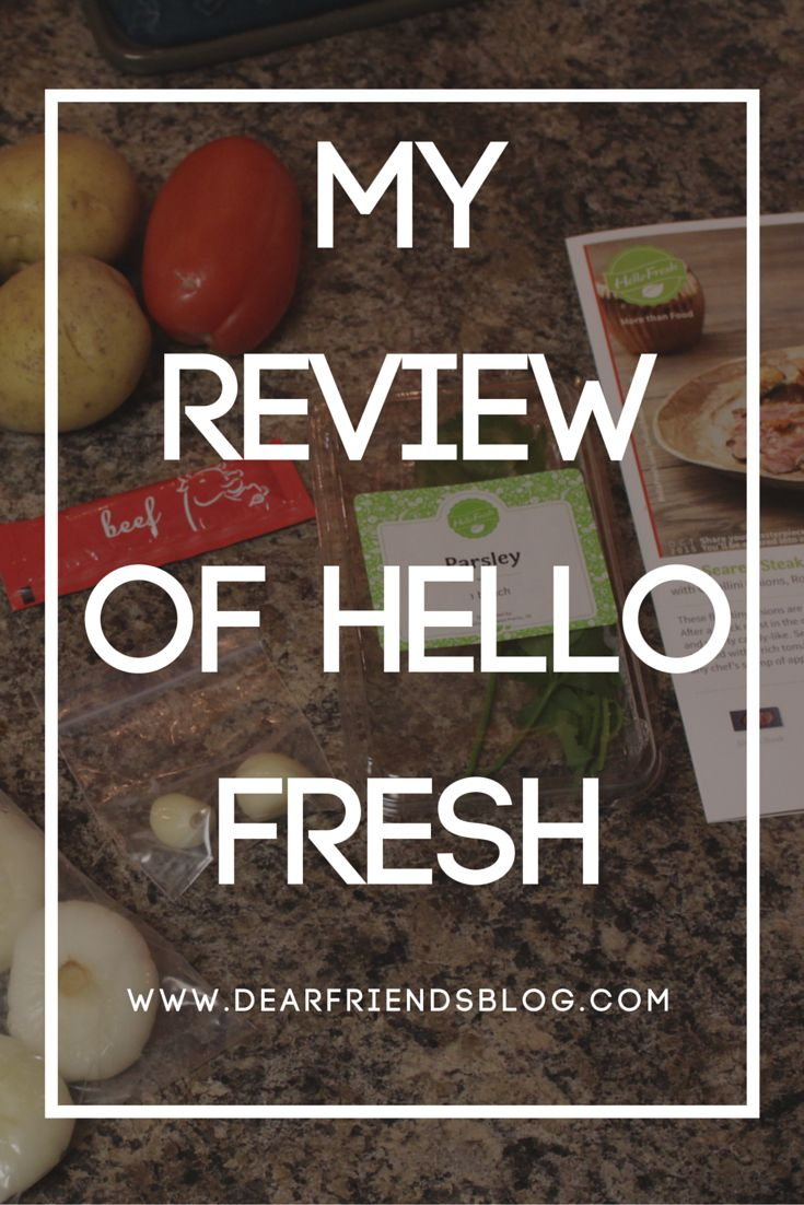 My Review of Hello Fresh #groceries #food #subscription #unboxing #hello #fresh #healthy #dearfriendsblog