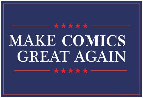 Make Comics Great Again #2: If It Ain't White it Ain't Right  We need to make comics great again. There's a lot of things wrong with comics these days and I'm gonna tell you how to fix it. I don't care if you didn't ask my opinion I'm telling you anyway because that's just what I do. Now let me tell you what the problem is today. We already talked about all of these women folk being heroes now but what about the colored people. A whole lot of them running around. Back when comics were great…
