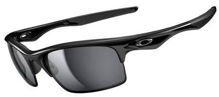 Oakley Bottle Rocket Sunglasses with Polished Black Frame and Black Iridium Polarized Lenses