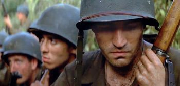 Restored Re-Release Trailer for Terrence Malick's 'The Thin Red Line' http://best-fotofilm.blogspot.com/2016/08/restored-re-release-trailer-for.html  «In this world, a man, himself, is nothing.» War is hell. In late 1998, Terrence Malick release his third film, The Thin Red Line, set during World War II telling the story of a group of American soldiers fighting in the Guadalcanal Campaign in the Pacific Theater of World War II. The film was overshadowed by Saving Private Ryan, also released…