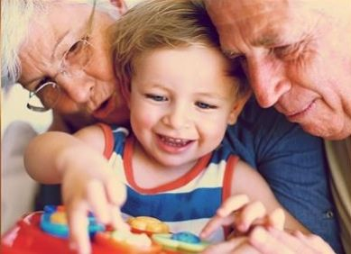 Grandparents, just enjoying with them/