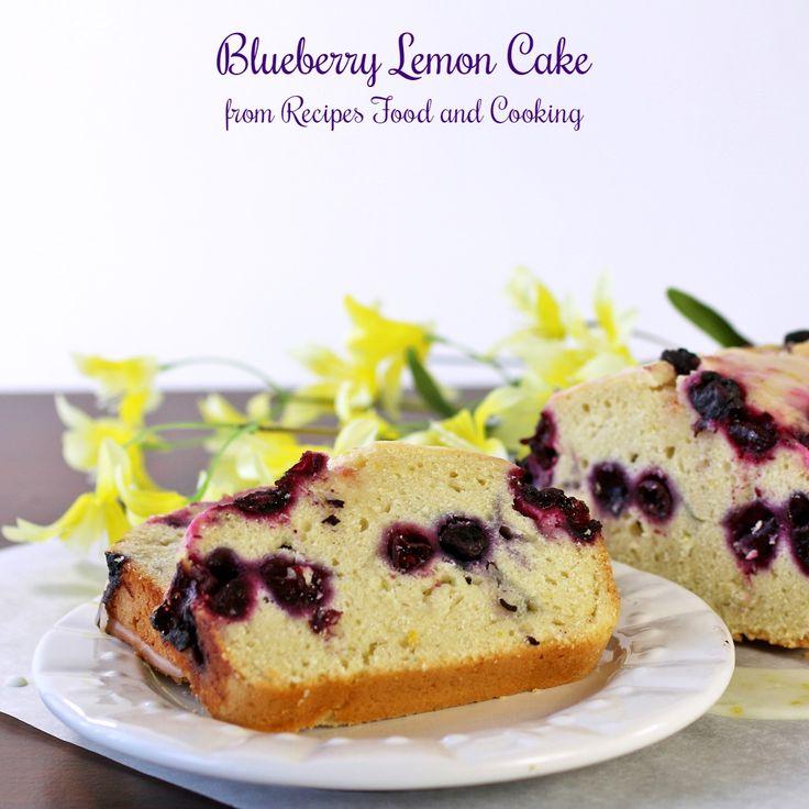 Ooey Gooey Lemon Blueberry Cake - That's My Home