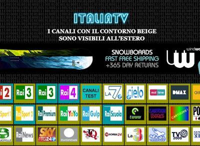 Guardare Canali Tv Italiani in Streaming anche all' Estero