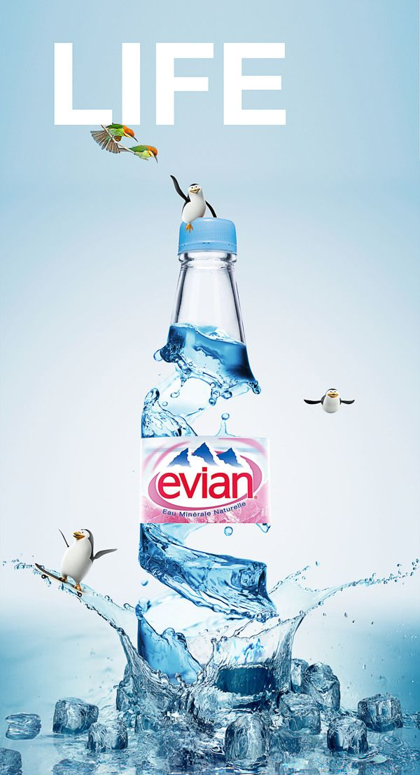 Evian- life campaign face -01 & 02 by Jyo John, via Behance