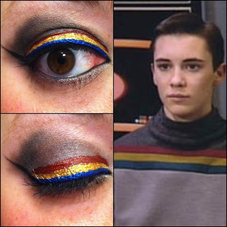 Wesley Crusher inspired eye makeup | Wesley Crusher Star Trek TNG makeup eyeshadow. This is so cool!
