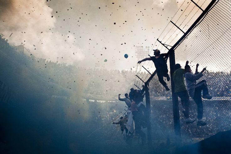 Boca Juniors supporters at La Bombonera.