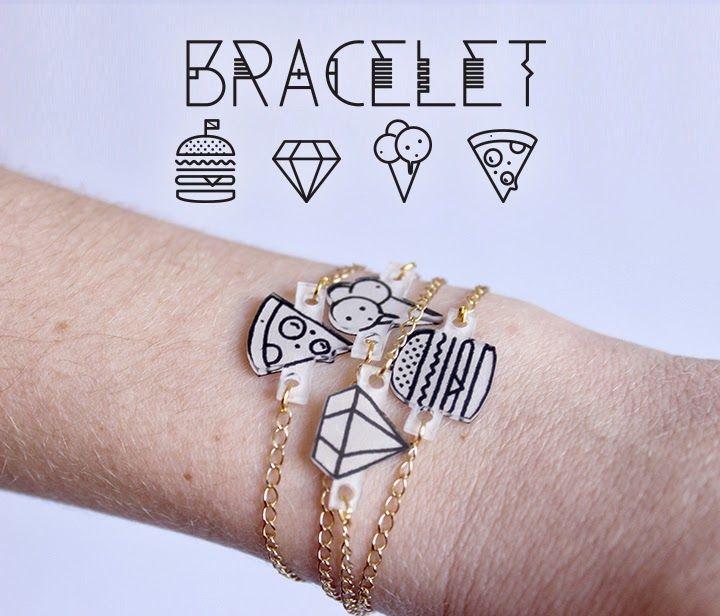 Bonjour Darling - Blog Illustration, Cuisine et DIY Bordeaux: DIY Bracelet en plastique dingue