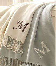 Pottery Barn Monogram Throws