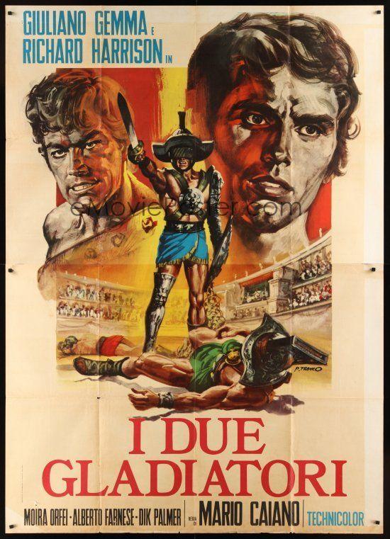 """The Two Gladiators (1964) """"I due gladiatori"""" (original title) Stars: Richard Harrison, Moira Orfei, Alberto Farnese ~ Director: Mario Caiano"""