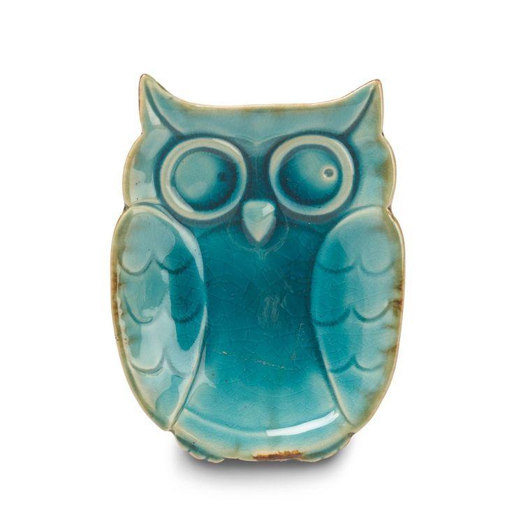 CERAMIC OWL DISH
