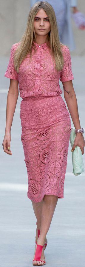 Burberry Prorsum Spring 2014 London Fashion Week  cara delevingne <3                                                                                                                                                                                 More