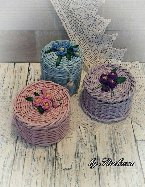 Стрекоза. Плетеные изделия из бумажной лозы.