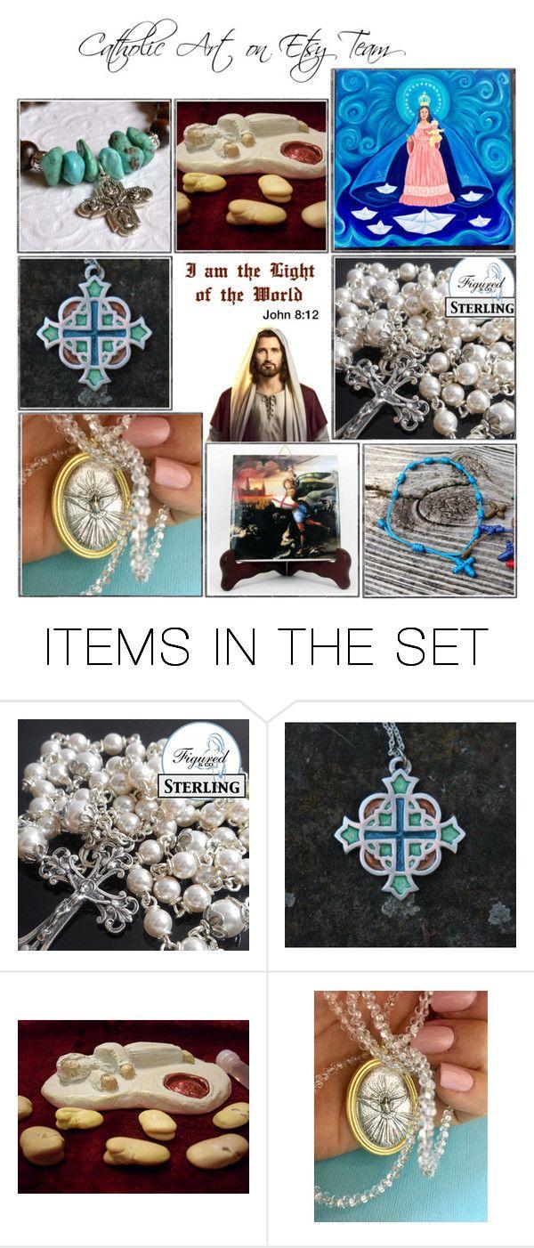 """Religious Art on Etsy by TerryTiles2014 - Volume 233"" by terrytiles2014 on Polyvore featuring arte, etsy, art, catholic e religious"