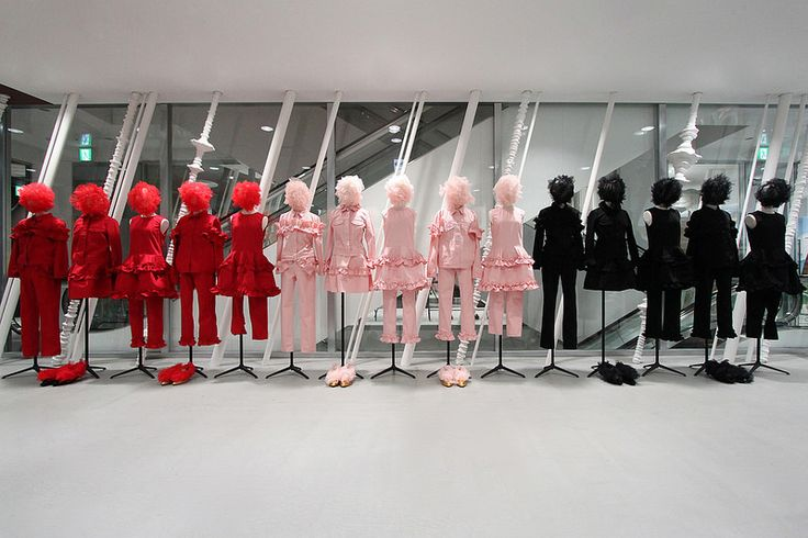 """DOVER STREET MARKET, Ginza,Tokyo,Japan, """"RED:Passion, PINK:Romance, BLACK: Sophistication, pinned by Ton van der Veer"""
