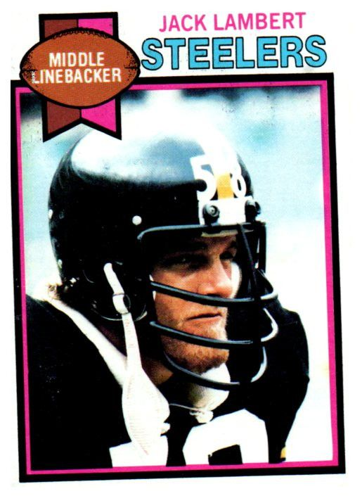 1979 Topps Jack Lambert Pittsburgh Steelers