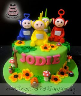 Sweet Perfection Cakes Gallery: Code Teletubbies 01 - Jodie & Teletubbies Party!
