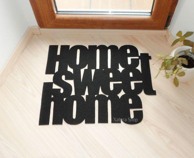"""Felpudo de diseño personalizado  """"Home sweet home"""""""
