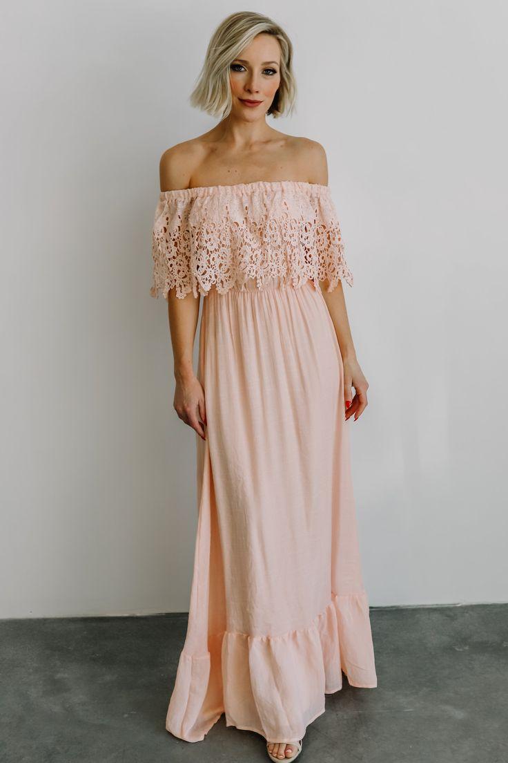 Dolce pink off shoulder maxi dress in 2020 dresses pink