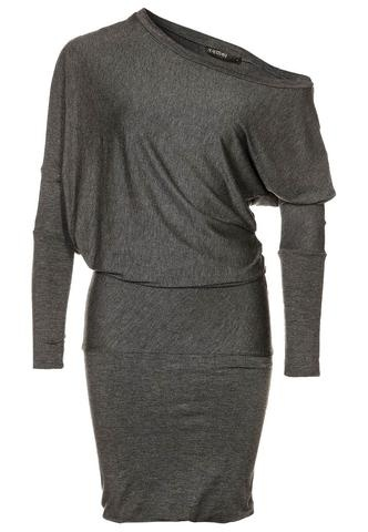 Draped Grey Dress