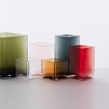 Ittala- Ruutu Bouroullec Vase 115x140mm - rosa/rautenform