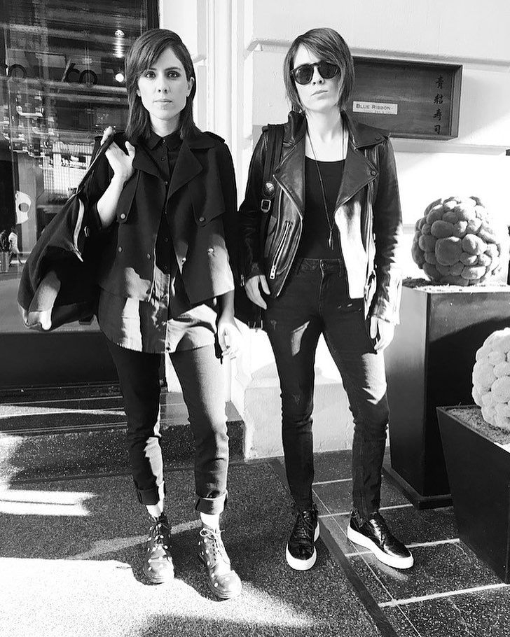 "Tegan and Sara (@teganandsara) on Instagram: ""Headed to the #villagevoiceprideawards and just ate  So far today rules."""