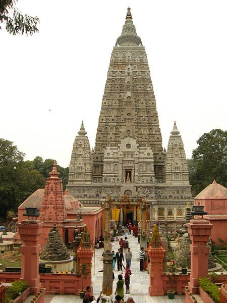 Mahabodhi Temple in Bodh Gaya, India