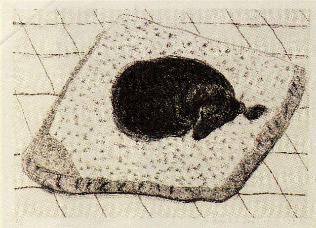David Hockney,' Dog Wall (15)' Etching, 1998.