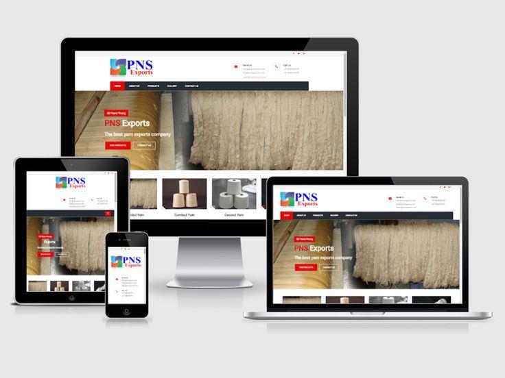 #123Coimbatore team designed a #website for PNS Exports => http://www.webdesign.123coimbatore.com/portfolio.php