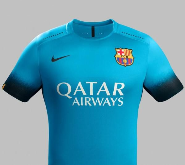 This is the new Barcelona third kit 2015/2016, Barca's new second alternate/European strip for the Champions League and other select games during the 15/16 season. Made by Nike, the new Barca…